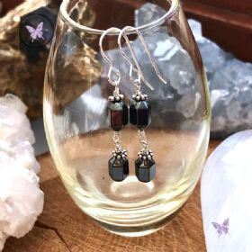 Hematite Faceted Drop Earrings
